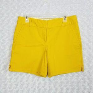 LOFT Womens Size 4 Shorts Riviera Yellow 6-inch